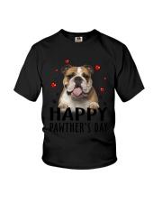 Bulldog Happy Pawther Day Youth T-Shirt thumbnail