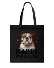 Bulldog Happy Pawther Day Tote Bag thumbnail