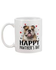 Bulldog Happy Pawther Day Mug back