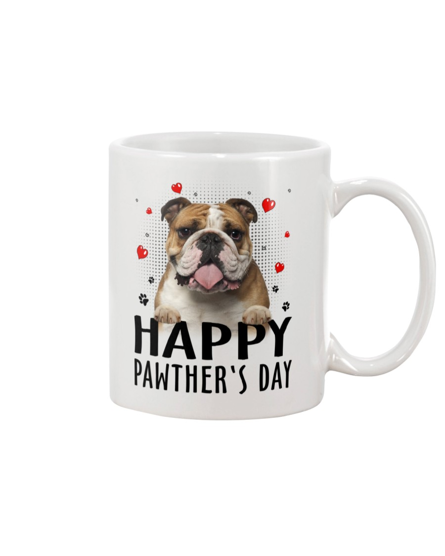 Bulldog Happy Pawther Day Mug