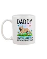 Daddy I Love You More French Bulldog Mug back