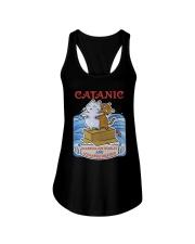 PHOEBE - Cat Titanic  mug - 1711 - A11 Ladies Flowy Tank thumbnail