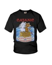PHOEBE - Cat Titanic  mug - 1711 - A11 Youth T-Shirt thumbnail