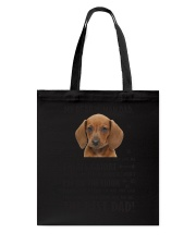 Human Dad Dachshund Tote Bag thumbnail