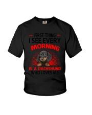 Dachshund Morning Youth T-Shirt thumbnail