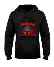 Dachshund Morning Hooded Sweatshirt thumbnail