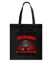 Dachshund Morning Tote Bag thumbnail