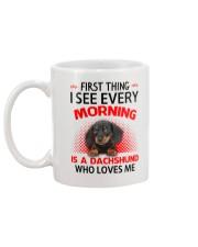 Dachshund Morning Mug back
