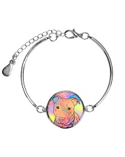 American Pit Bull Terrier Color Summer Metallic Circle Bracelet front