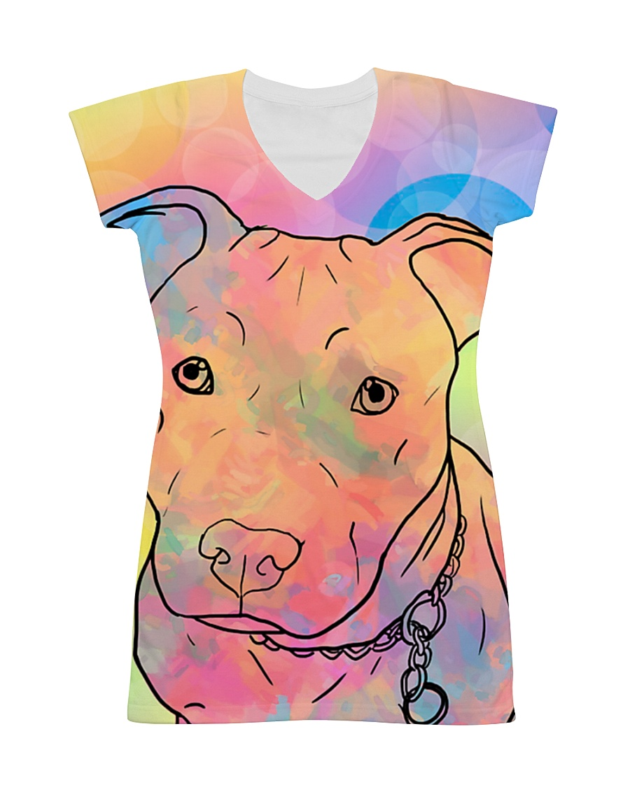 American Pit Bull Terrier Color Summer All-over Dress
