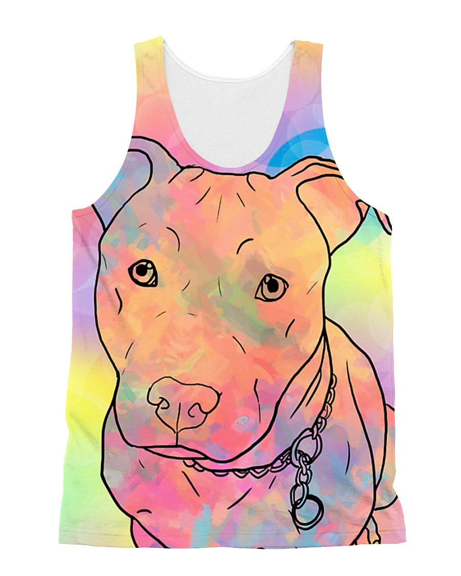 American Pit Bull Terrier Color Summer All-over Unisex Tank