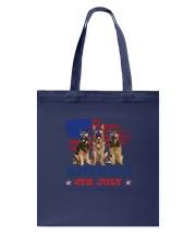4th July German Shepherd Tote Bag front