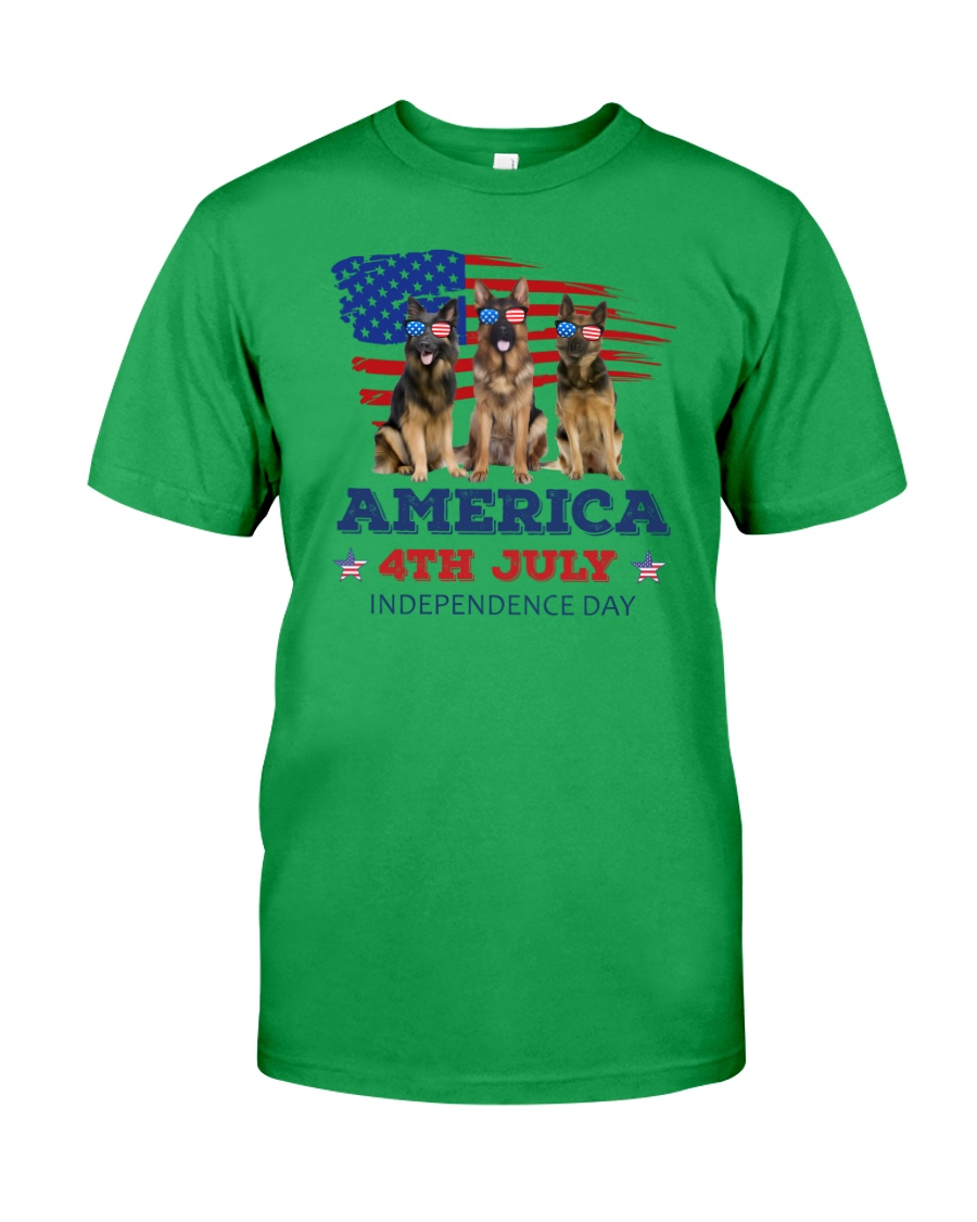 4th July German Shepherd Classic T-Shirt