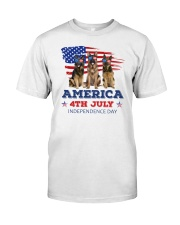 4th July German Shepherd Classic T-Shirt front