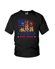 4th July German Shepherd Youth T-Shirt thumbnail
