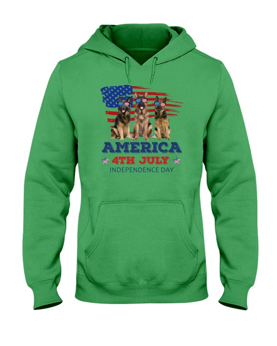 4th July German Shepherd Hooded Sweatshirt