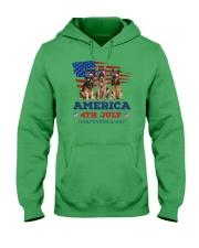 4th July German Shepherd Hooded Sweatshirt front