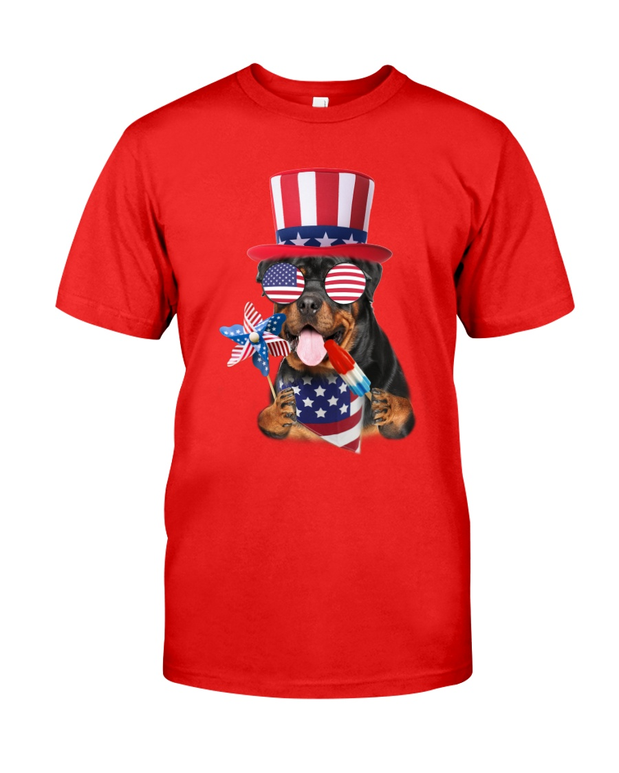 Independence Day Rottweiler Classic T-Shirt