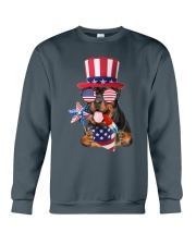 Independence Day Rottweiler Crewneck Sweatshirt front