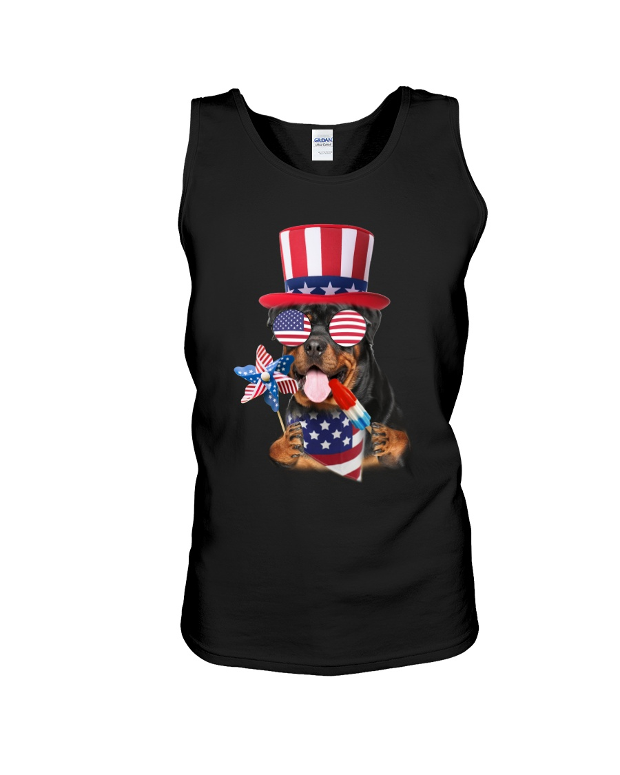 Independence Day Rottweiler Unisex Tank