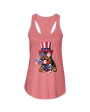 Independence Day Rottweiler Ladies Flowy Tank front