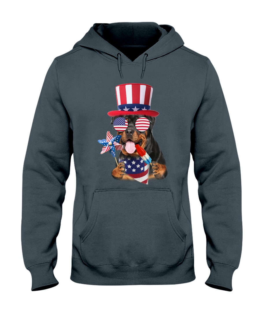Independence Day Rottweiler Hooded Sweatshirt