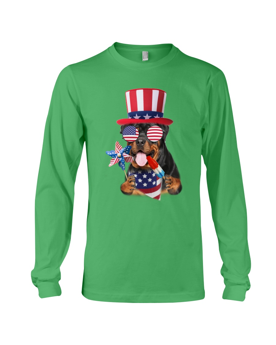 Independence Day Rottweiler Long Sleeve Tee