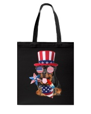 Independence Day Rottweiler Tote Bag tile