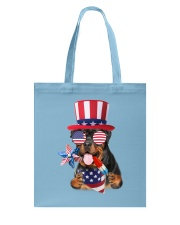 Independence Day Rottweiler Tote Bag front