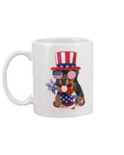 Independence Day Rottweiler Mug back