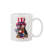Independence Day Rottweiler Mug front