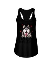 Siberian Husky Happy Pawther Day Ladies Flowy Tank thumbnail