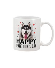Siberian Husky Happy Pawther Day Mug front