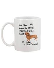 Pawsome Mom Dachshund Mug back