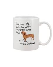 Pawsome Mom Dachshund Mug front