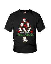 Unicorn Merry Christmas Youth T-Shirt thumbnail