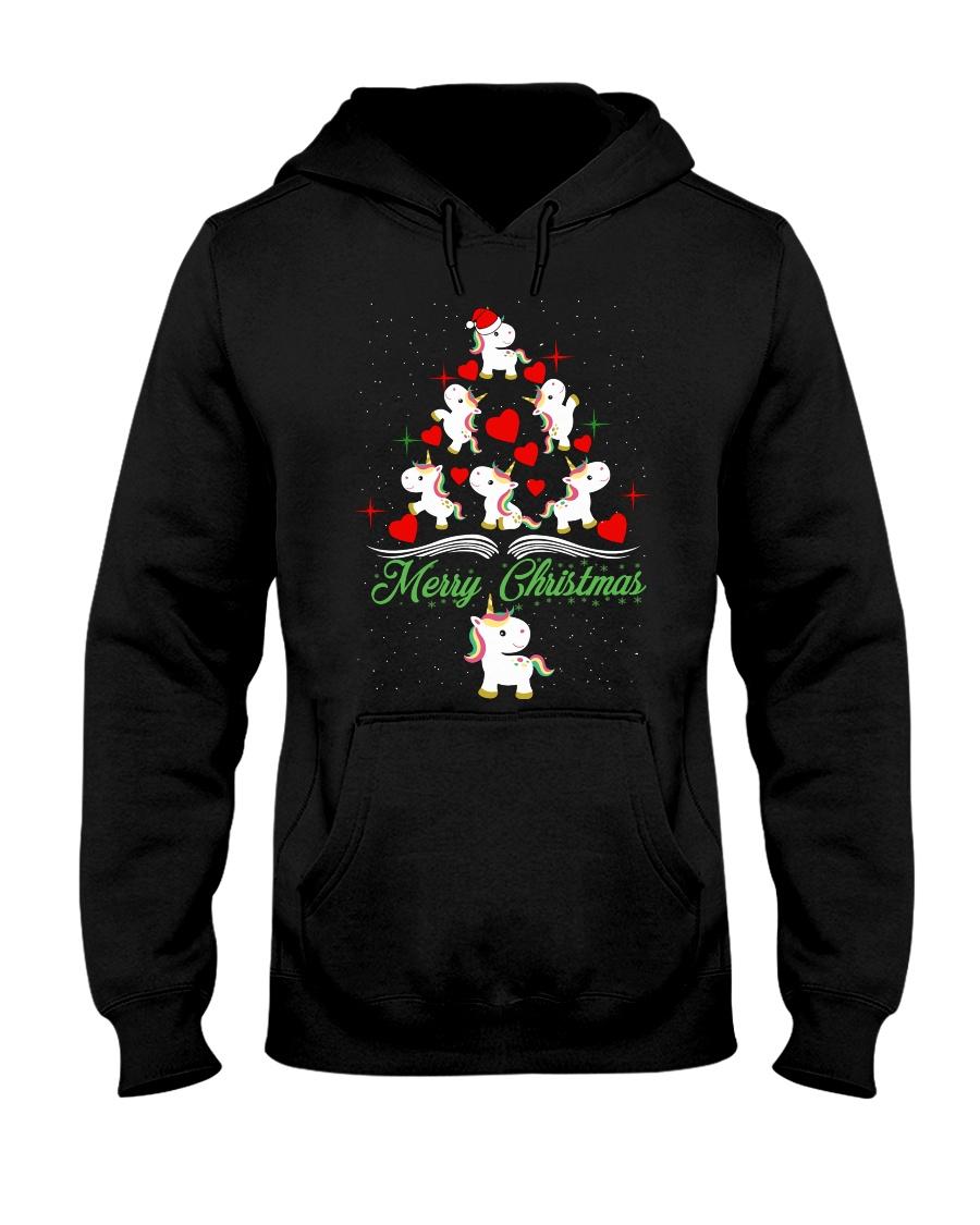 Unicorn Merry Christmas Hooded Sweatshirt