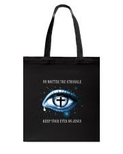 Keep Your Eyes On Jesus Tote Bag thumbnail
