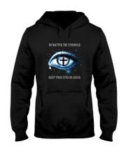 Keep Your Eyes On Jesus Hooded Sweatshirt thumbnail