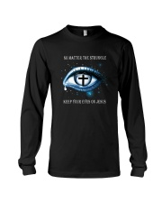 Keep Your Eyes On Jesus Long Sleeve Tee thumbnail