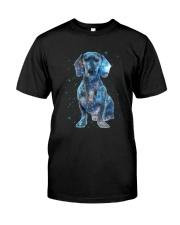 Dachshund Galaxy Classic T-Shirt front