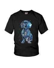 Dachshund Galaxy Youth T-Shirt thumbnail