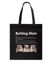 Mom Bulldog  Tote Bag thumbnail