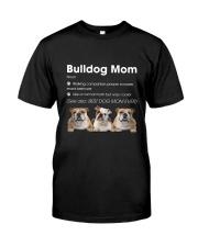 Mom Bulldog  Classic T-Shirt front