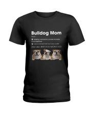 Mom Bulldog  Ladies T-Shirt thumbnail