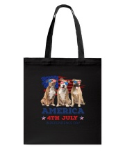 4th July American Staffordshire Terrier Tote Bag thumbnail