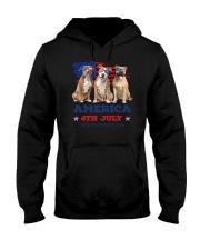 4th July American Staffordshire Terrier Hooded Sweatshirt thumbnail