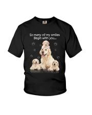 Golden Retriever Begin With You Youth T-Shirt thumbnail