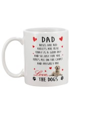 Dad Golden Retriever Mug back