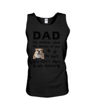 Dad Bulldog Unisex Tank thumbnail